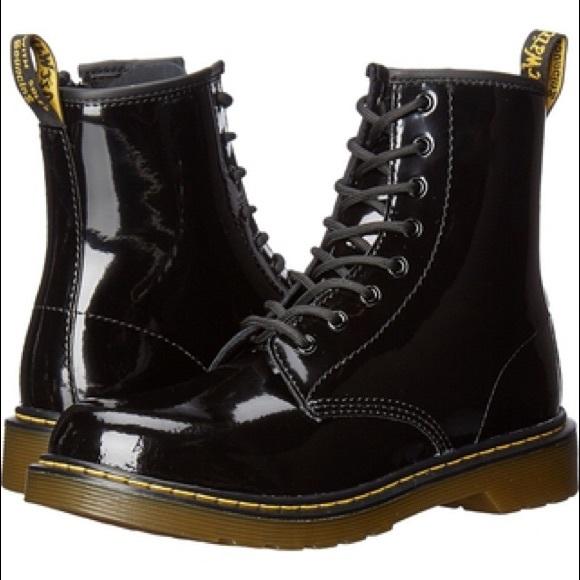 ff2def63bd3 DR MARTEN'S   Black Leather Delaney Boot 2